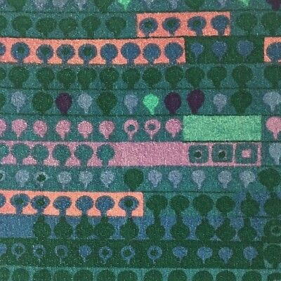 Vintage 70s Heals fabric  Irmgard Krebs Cherry Orchard DIY wall art Textile #70