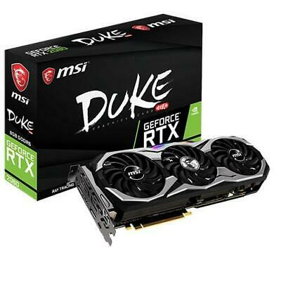 MSI nVidia Geforce RTX 2080 DUKE 8G OC 8GB GDDR6 8K 7680x4320@60Hz 3xDP1.4 HDMI2