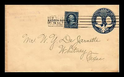 Dr Jim Stamps Us Cover 19Th Century Postal Stationery Madison Sqr Sta Cancel