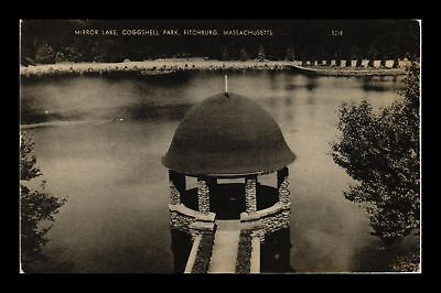 Dr Jim Stamps Us Mirror Lake Coggshell Park Fitchburg Massachusetts Postcard