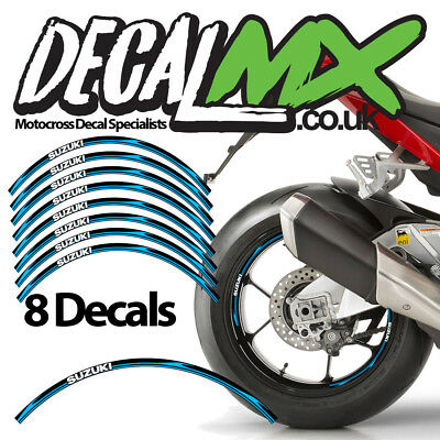 CHOOSE For SUZUKI GSX-R 1000 X 4 WHEEL DECALS RED STICKERS MANY COLOURS
