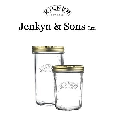 Kilner Wide Mouth Screw Top Preserve Storage / Preserving Jars