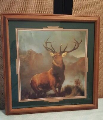 "Vintage Home Interior ""Monarh of the Glen"" Deer Picture by Sir Edwin Landseer"