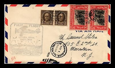 Dr Jim Stamps Us Cover First Flight Air Mail Omaha Nebraska 1929