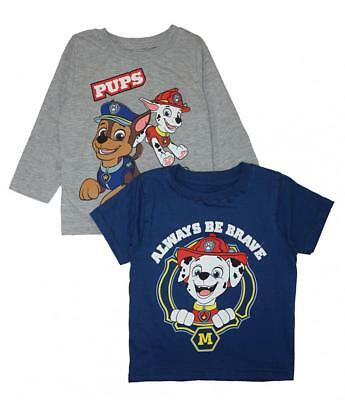 Paw Patrol Toddler Boys Blue & Gray 2pc Tops Size 2T 3T 4T