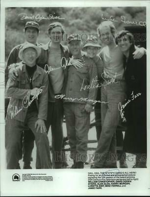 1983 Press Photo Cast of the 11th season of M*A*S*H - nop53998