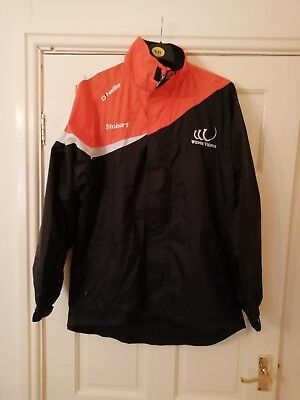 Widnes Vikings rugby shower jacket with pockets and hood vgc size medium men's