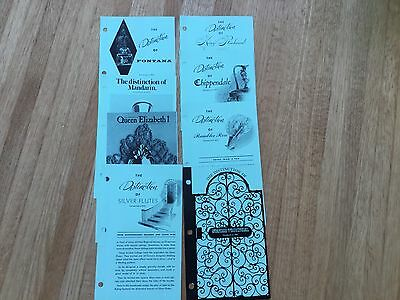 Lot of 8 different Towle  sterling flatware descriptive price guides from 1974