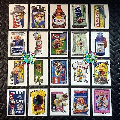GARBAGE PAIL KIDS WE HATE THE 90s 2019 WACKY-PAILS COMPLETE 20-CARD SET +WRAPPER