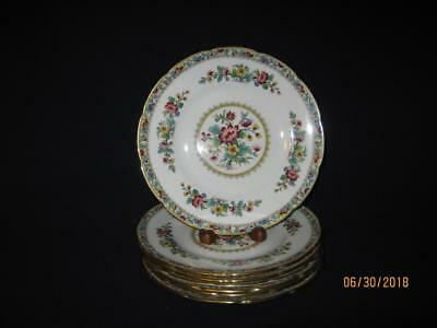 "Seven {7} Coalport Ming Rose 8"" Scalloped Salad Plates {Nice}"