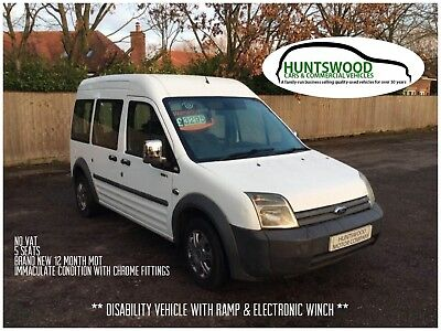 2009 Ford Torneo Connect 1.8 Lx 5 Seats - Wheelchair Access With Ramp & Winch
