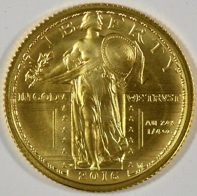 2016-W Standing Liberty Quarter 1/4 oz Gold Centennial Commem Coin W/OGP (b508.2