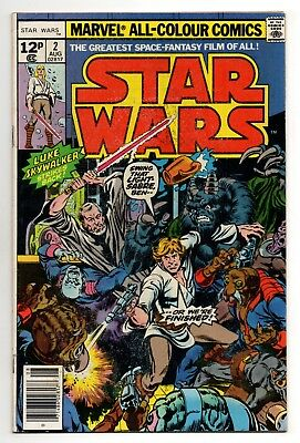Star Wars Vol 1 No 2 Aug 1977 (VFN-) (7.5) Marvel, Bronze Age (1970 - 1979)