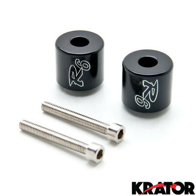 New Black Custom Logo Bar Ends Weights Sliders For Yamaha YZF-R6 R6 (2006-2012)