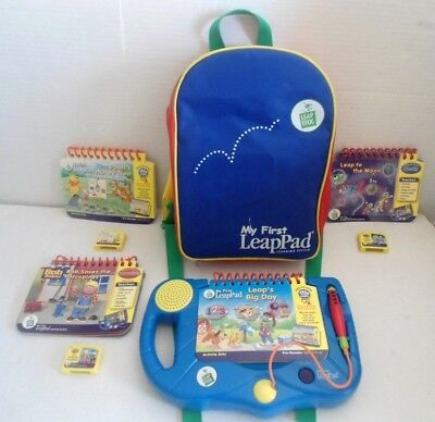 Leap Frog My First LeapPad System, Backpack, 4 Books:Pooh,Bob The Builder, Moon
