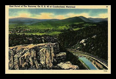 Dr Jim Stamps Us East Portal The Narrows Cumberland Maryland View Postcard