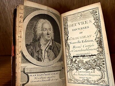 1742 Diverse Works Of Mr. Rousseau
