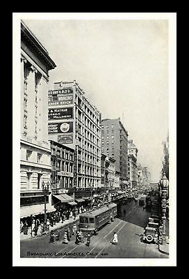 Dr Jim Stamps Us Broadway Los Angeles California Street View Postcard