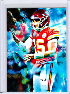 2018 Patrick Mahomes Kansas City Chiefs 1/1 ACEO Fist Sketch Print Card By:Q