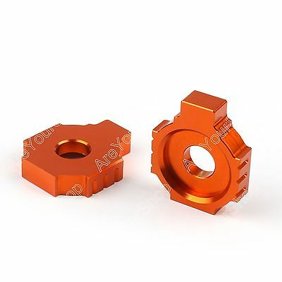 CNC Rear Axle Spindle Chain Adjuster Blocks For KTM Duke 125 200 390