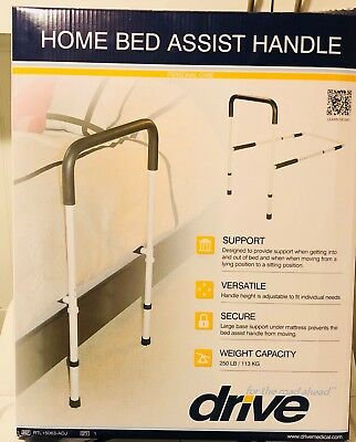 Drive Medical Adjustable Height Home Bed Assist Handle Free Shipping Pre-owned