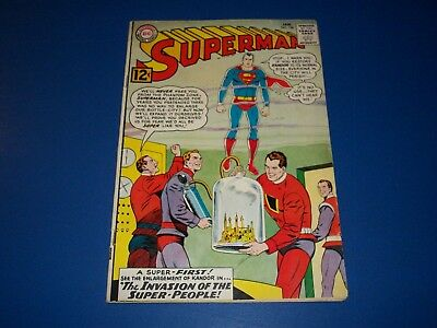 Superman #158 Silver Age VG+ 1st Flamebird and Nightwing
