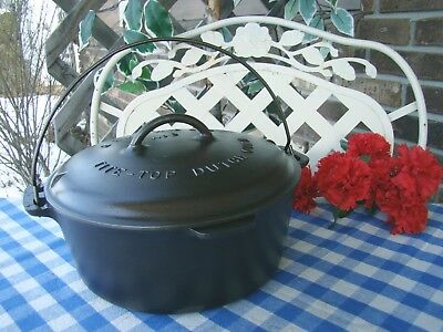Griswold Large Block Cast Iron #9 Tite-Top Dutch Oven with Matching Lid