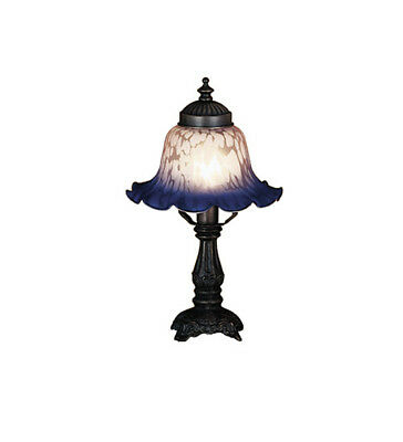 Meyda Tiffany 17507 Pink / Blue Stained Glass / Tiffany Accent Table Lamp