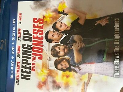 Keeping Up With the Joneses (Blu-ray/DVD, 2017, 2-Disc Set, Includes Digital Cop