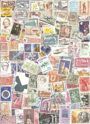 Belgium Collection Pulled from Stamp Hoard 109 Large Great Variety Used *SALE*