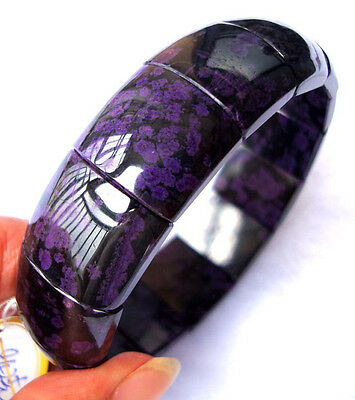 Natural Sugilite Rectangle Beads Stretch Bracelet 15×20mm/18×20mm