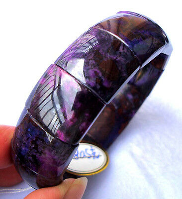 Natural Sugilite Rectangle Beads Stretch Bracelet 16×21mm/19×21mm