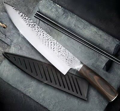 "8"" Professional Chef Knife Japanese Stainless Steel Santoku Kitchen Damascus"