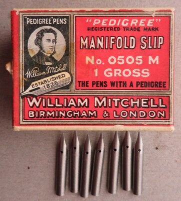 7x RARE WILLIAM MITCHELL MANIFOLD  #505 DIP PEN NIBS+CALLIGRAPHY+DRAW+JOURNALS+