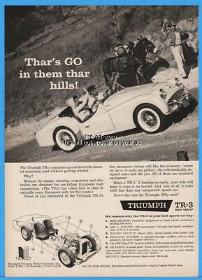 1959 Standard Triumph Motor Co TR 3 TR3 Convertible Roadster Gold Miner Mule Ad