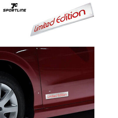 Universal Auto Car 3D Red Limited Edition Logo Emblem Badge Metal Sticker Decal