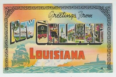 [69726] OLD LARGE LETTER POSTCARD GREETINGS from NEW ORLEANS, LOUISIANA