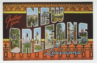 [69727] OLD LARGE LETTER POSTCARD GREETINGS from NEW ORLEANS, LOUISIANA
