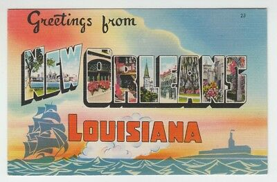 [69730] OLD LARGE LETTER POSTCARD GREETINGS from NEW ORLEANS, LOUISIANA