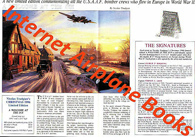 """""""a Welcome At The Inn"""" Nicolas Trudgian Aviation Art Advertising Brochure Ww2"""