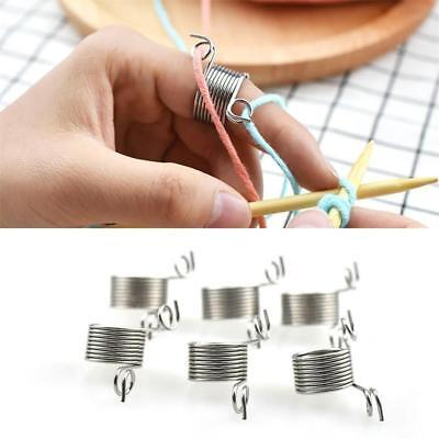 Stainless Steel Braided Knitting Ring Sewing Finger Thimble Yarn Needle Guide