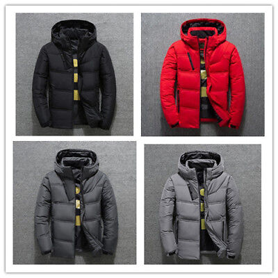 Winter Men's Warm Quilted Duck Down Padded Bubble Puffer Jacket Ski Coat Parka