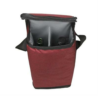 Portable Two-bottle Red Wine Bottle Bags Two-compartment Cold-proof Ice Pack AU