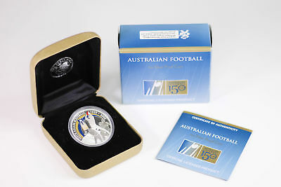 2008 Perth Mint $1 1oz Silver Proof 150 Years of Aus Football Coin - Box & COA