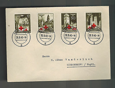 1940 KRakau Poland Germany GG cover War Relief for Red Cross to Siebenbrunn
