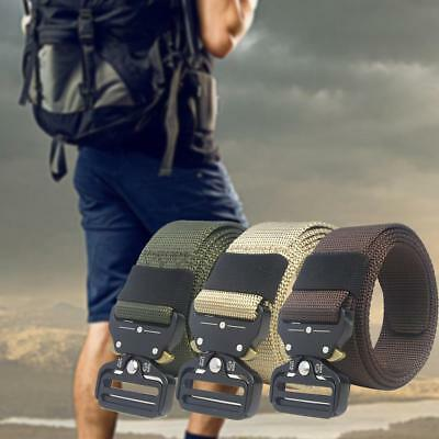 Mens Heavy Duty Military Belt Tactical Army Hunting Outdoor Utility Waistband AU