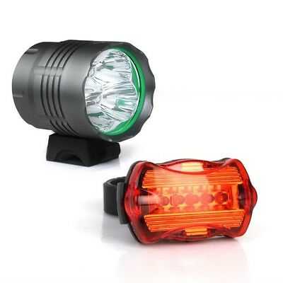 WEISSHORN 50000LM Bike Bicycle light LED Headlamp Front Rear light