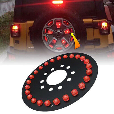 "Spare Tire LED Third Brake Light Lamp Bulb For 07-17 Jeep Wrangler JK 15"" Rims"