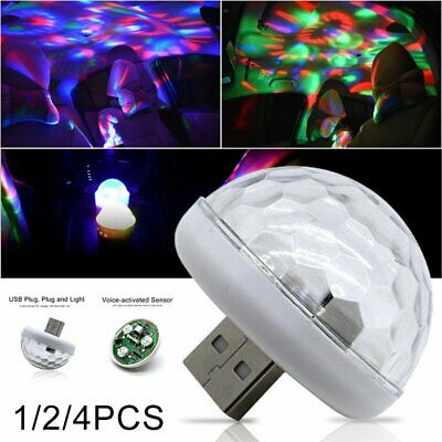 USB Mini LED Disco Stage Light Party Club DJ KTV Magic Lamp Ball LED Car Lamp