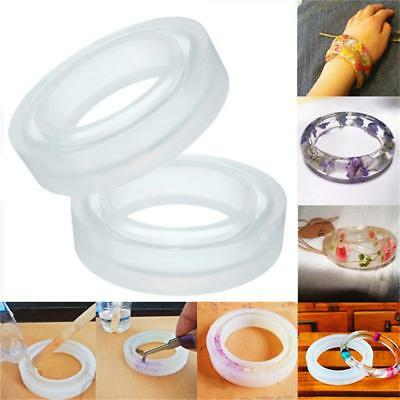 Silicone Mold Jewelry Bracelet Epoxy Resin Bangle Mould Handmade DIY Craft Tool